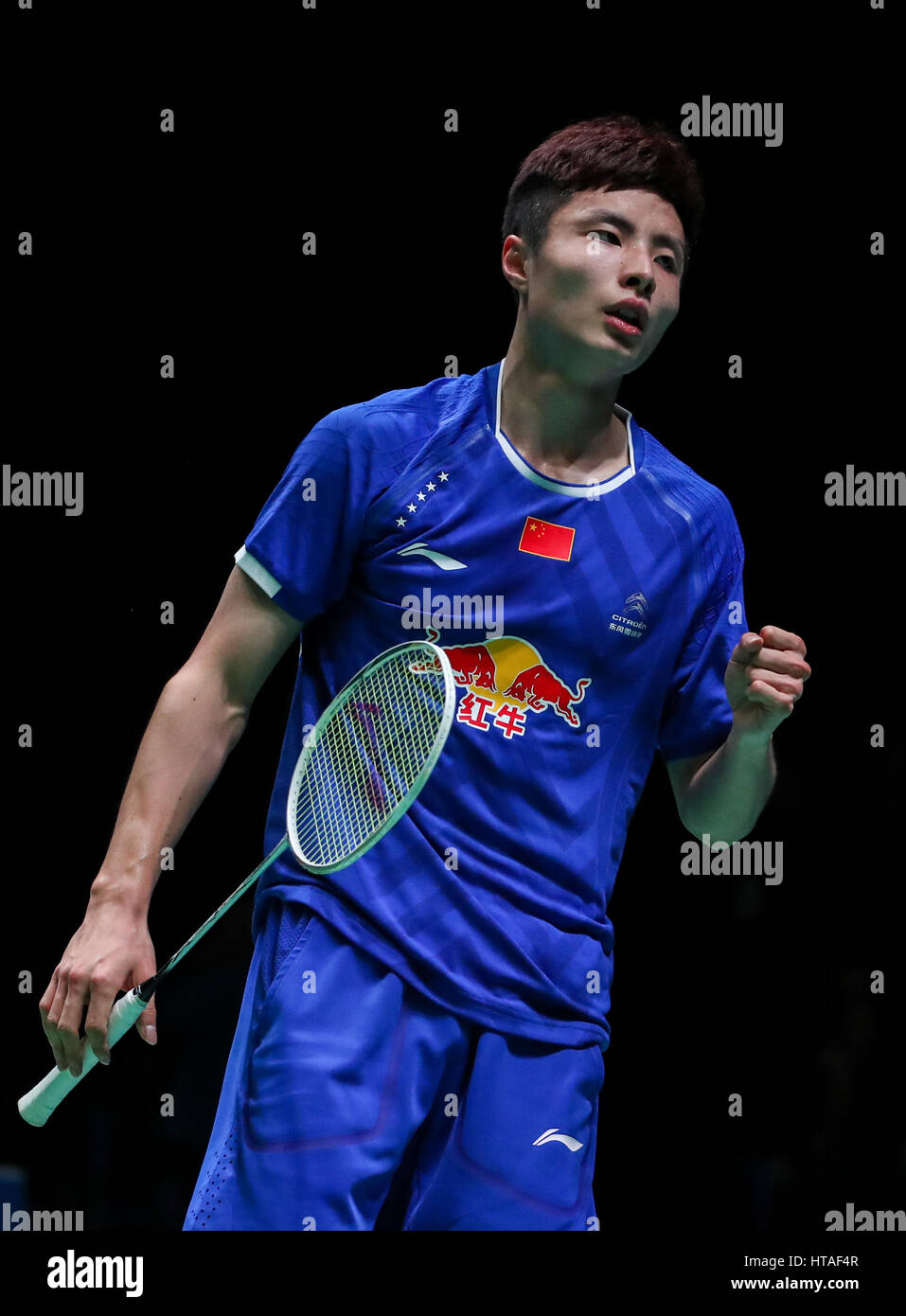 Birmingham 9th Mar 2017 China s Shi Yuqi celebrates during the