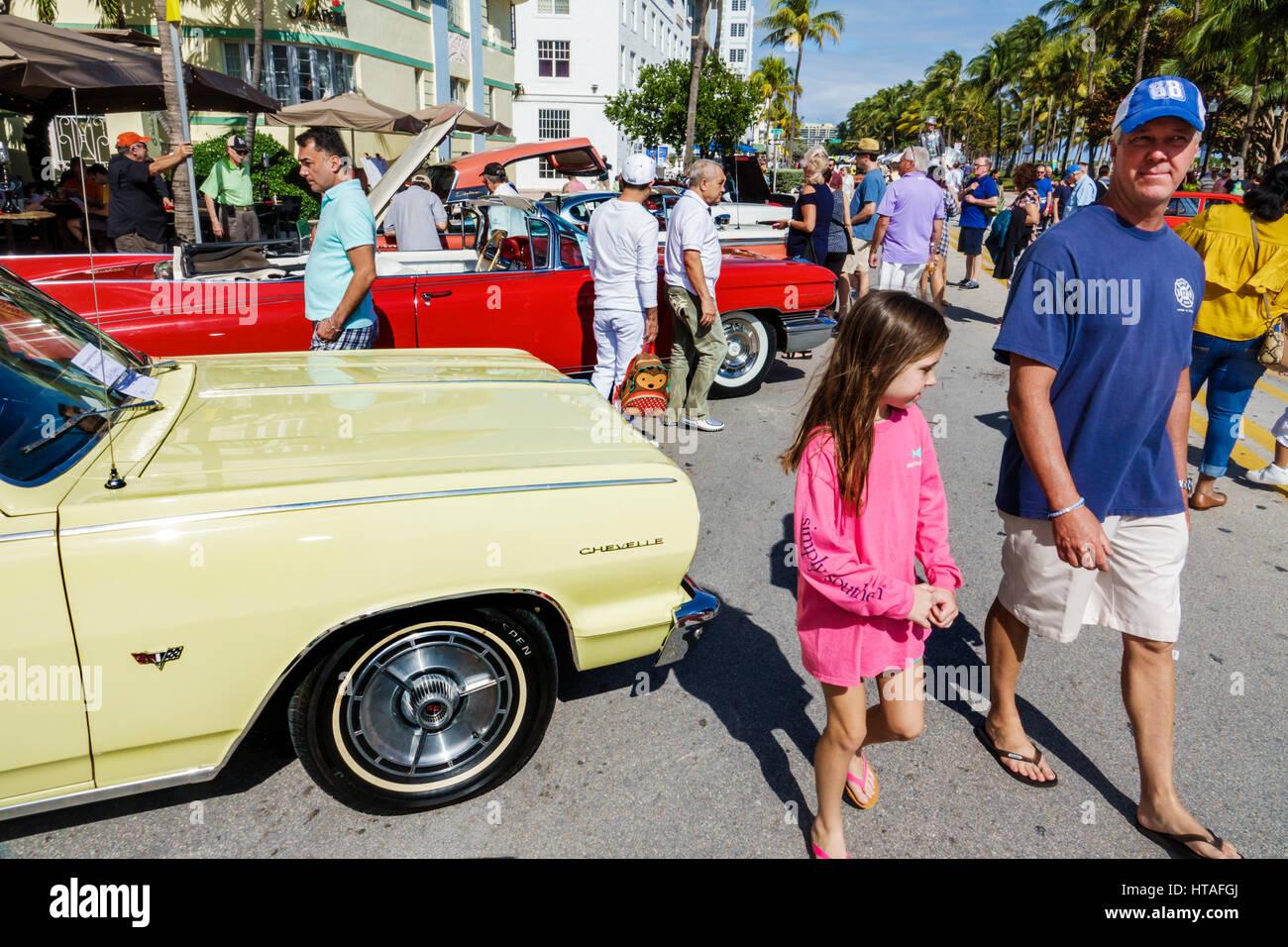 Miami Beach Florida Ocean Drive Art Deco Weekend community festival ...