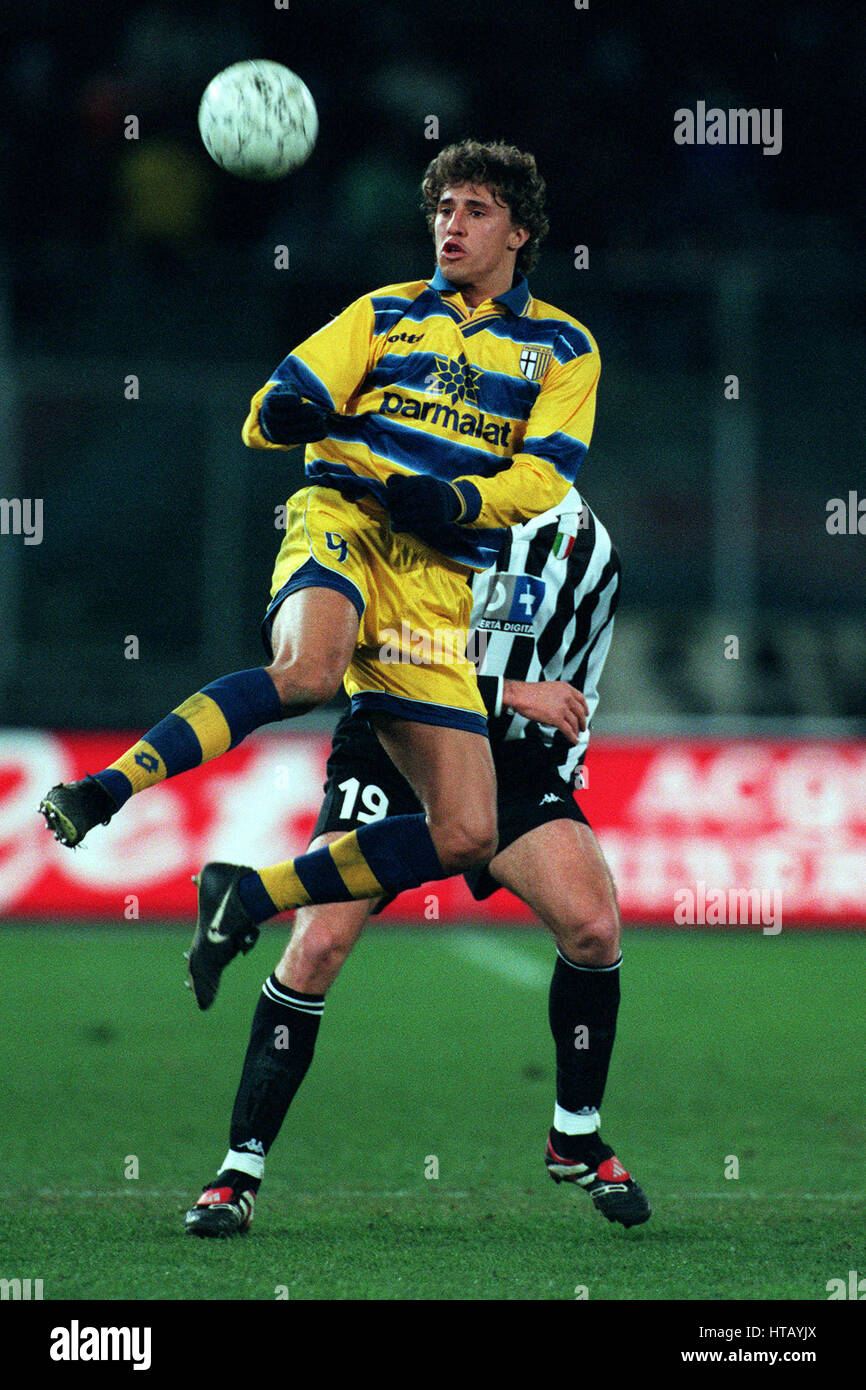 HERNAN CRESPO PARMA FC 07 February 1999 Stock Royalty Free