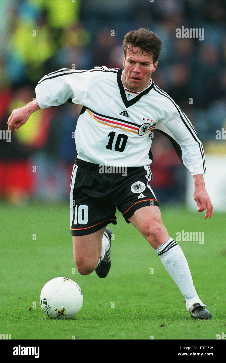 LOTHAR MATTHAUS GERMANY & BAYERN MUNCHEN FC 27 March 1999 Stock