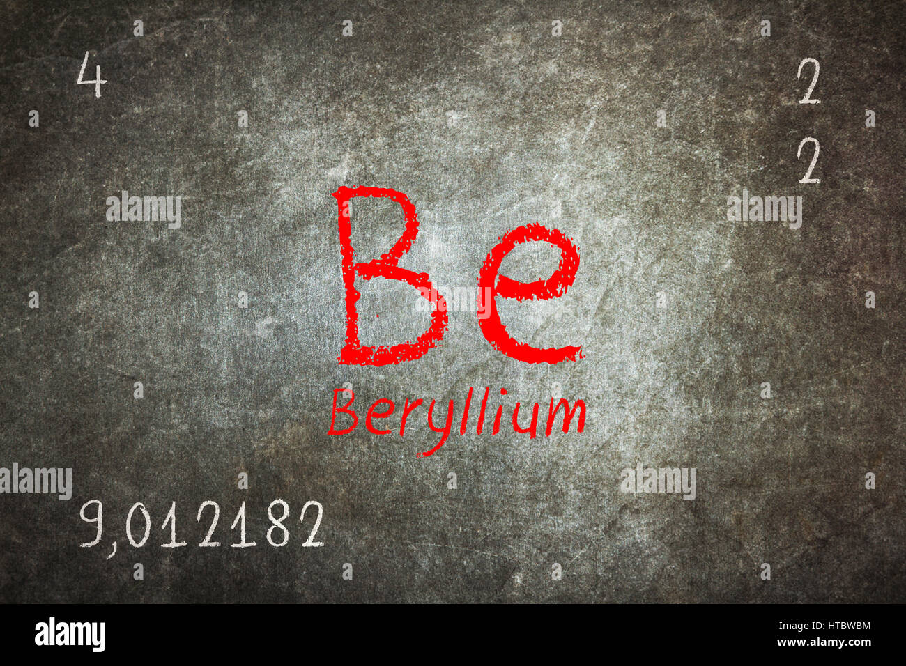 Isolated blackboard with periodic table beryllium chemistry isolated blackboard with periodic table beryllium chemistry buycottarizona Image collections