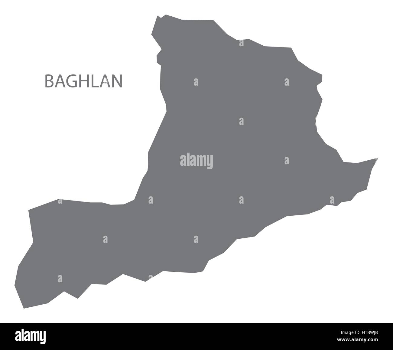 Baghlan Afghanistan map grey illustration silhouette Stock Vector