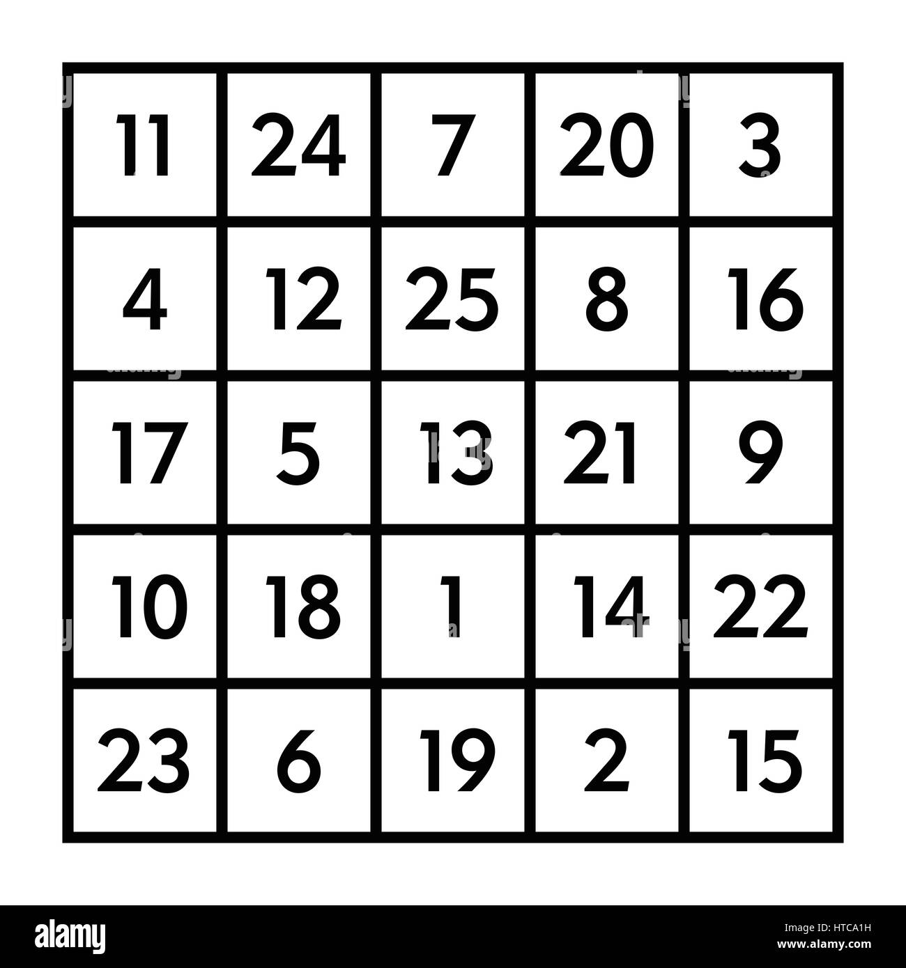 5x5 magic square of order 5 of astrological planet mars with magic 5x5 magic square of order 5 of astrological planet mars with magic constant 65 biocorpaavc Choice Image