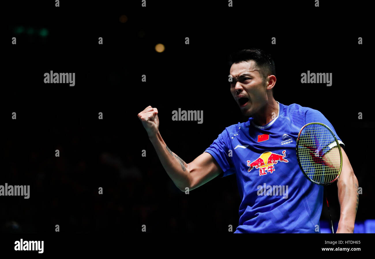 Birmingham 10th Mar 2017 Lin Dan of China celebrates during the