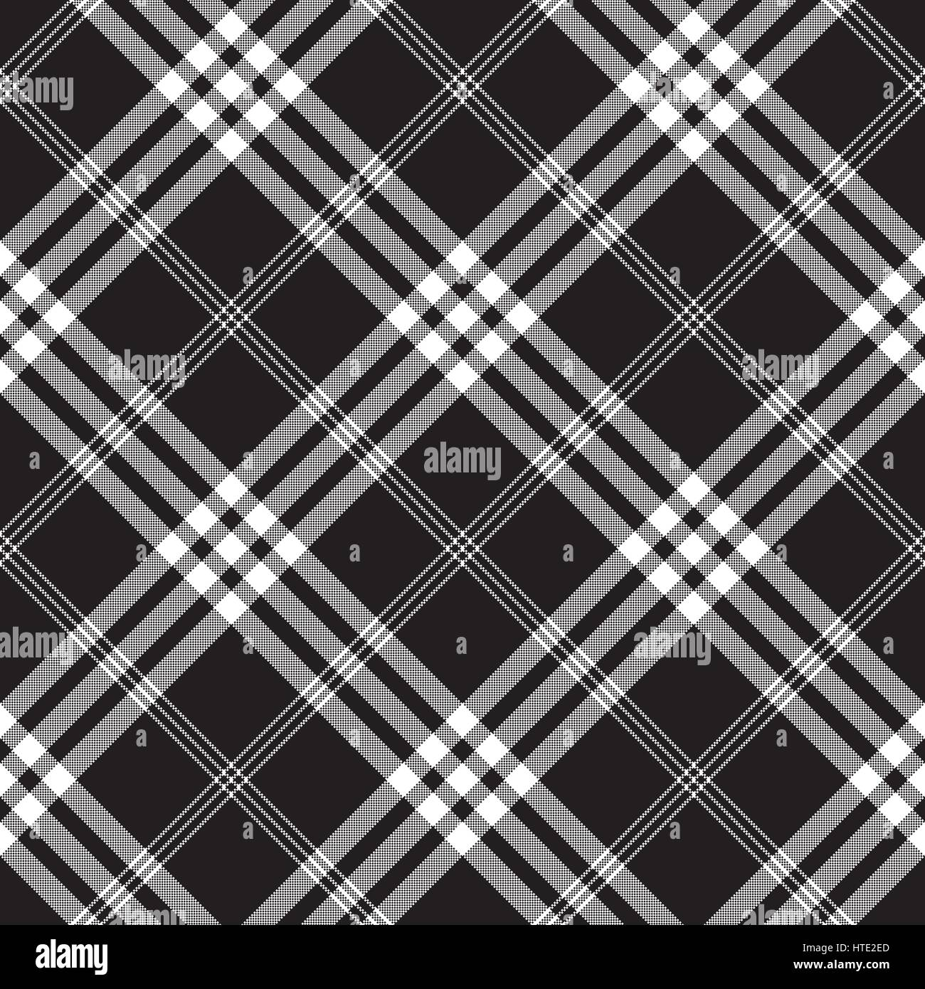 Seamless black and white checkered texture stock images image - Black And White Check Pixel Square Fabric Texture Seamless Pattern Vector Illustration