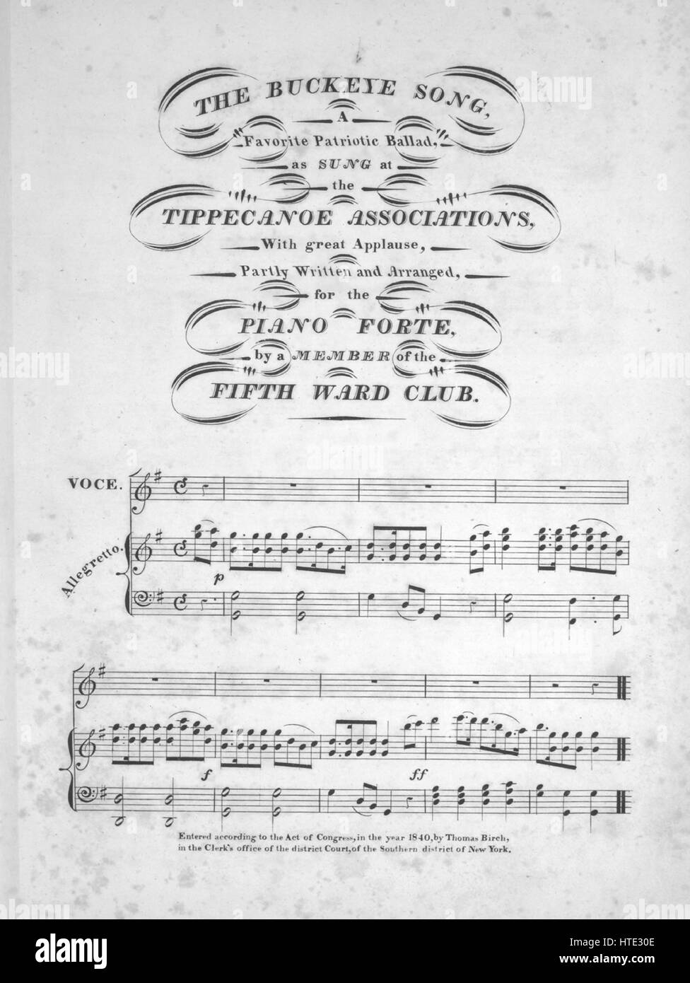 sheet music cover image of the song the buckeye song a favorite