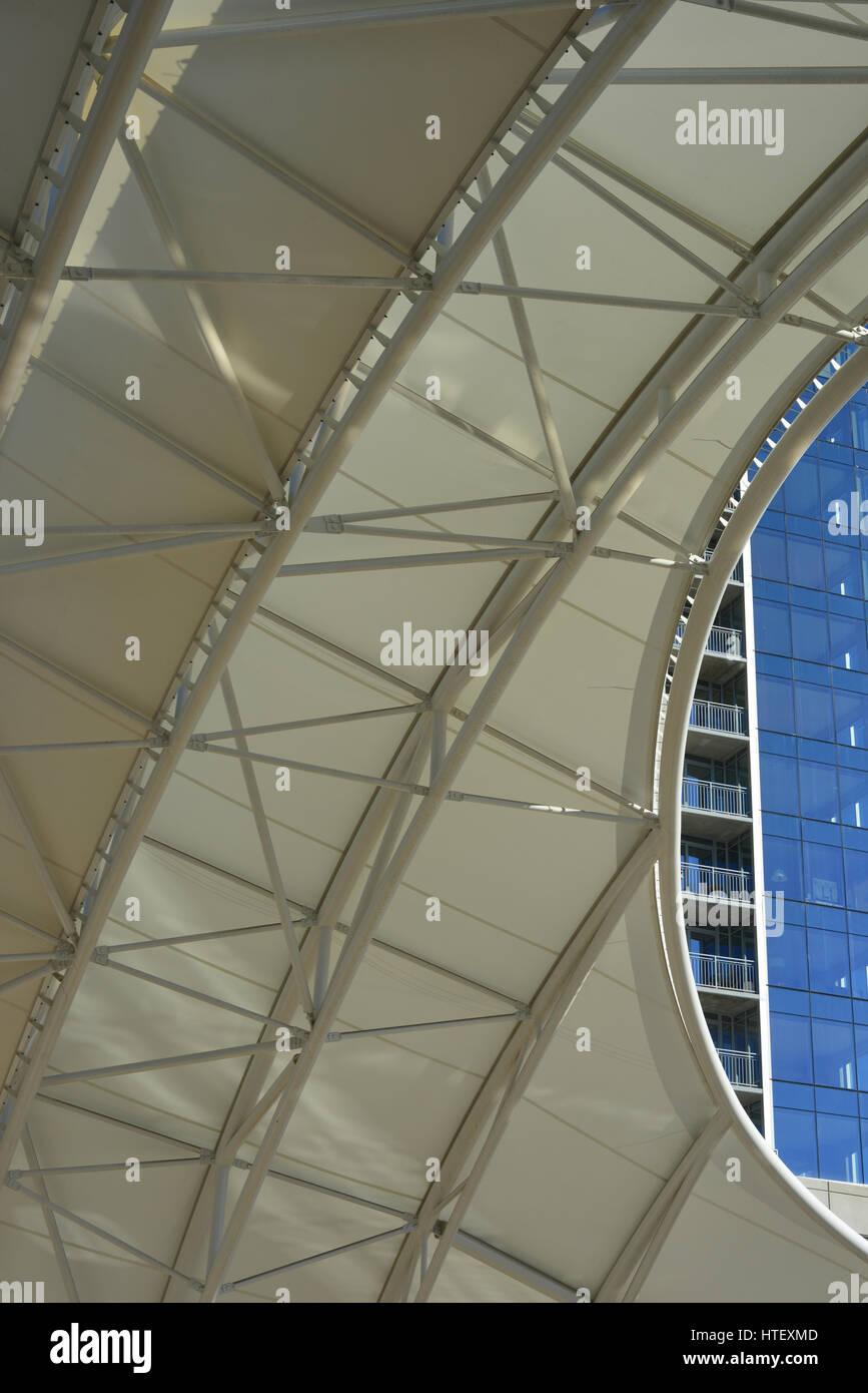Detail of canopy Union Station Denver Colorado USA & Detail of canopy Union Station Denver Colorado USA Stock Photo ...
