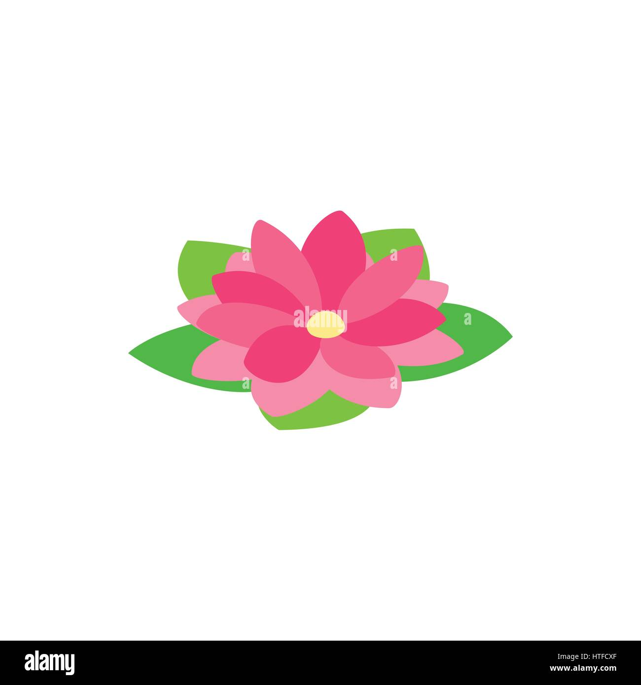 Lotus flower drawing isolated icon stock photos lotus flower lotus flower icon isometric 3d style stock image dhlflorist Images