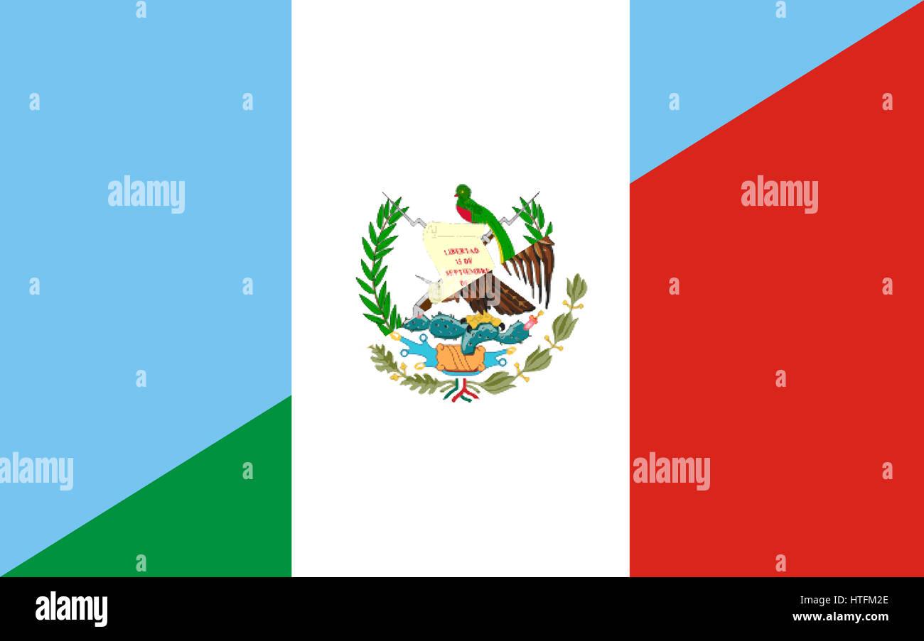 Flag Simple Map Of Guatemala Single Color Outside Borders