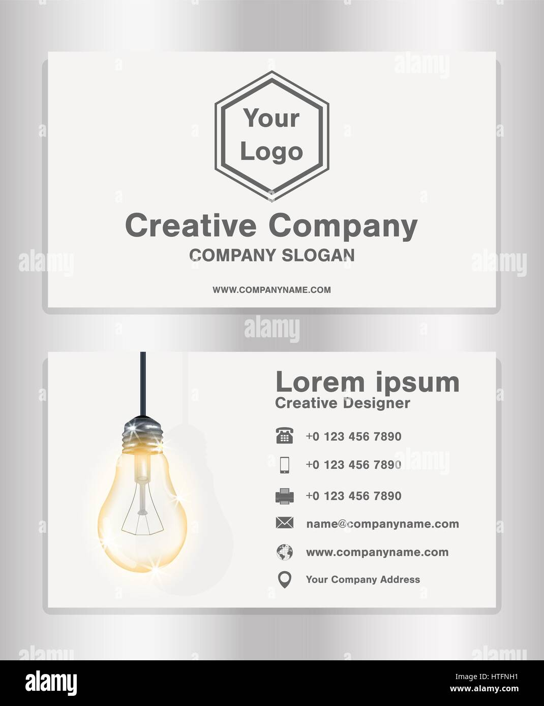 simple creative theme business name card template for creative Stock ...