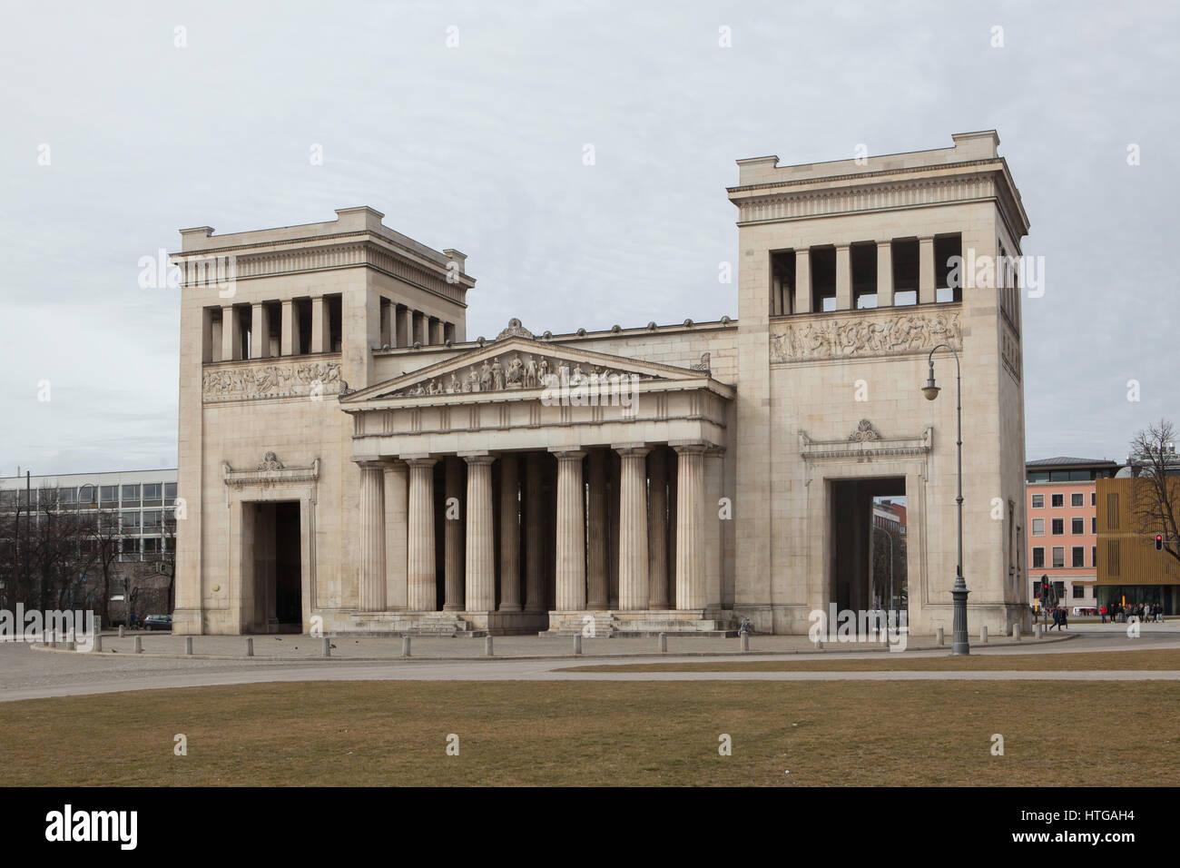 Propylaea Designed By German Architect Leo Von Klenze 1862 In Konigsplatz Munich Bavaria Germany