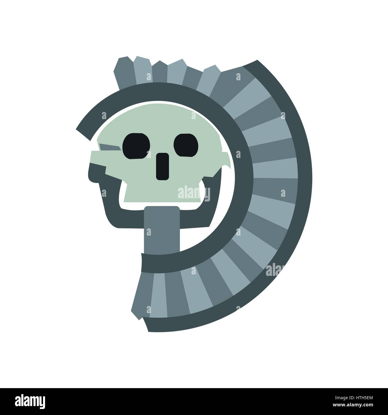 Skull the god of death of aztecs icon flat style stock vector art skull the god of death of aztecs icon flat style biocorpaavc Images