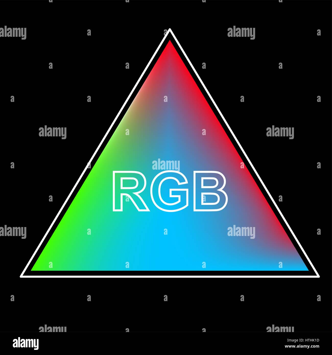 Triangle Color System Of The RGB Background