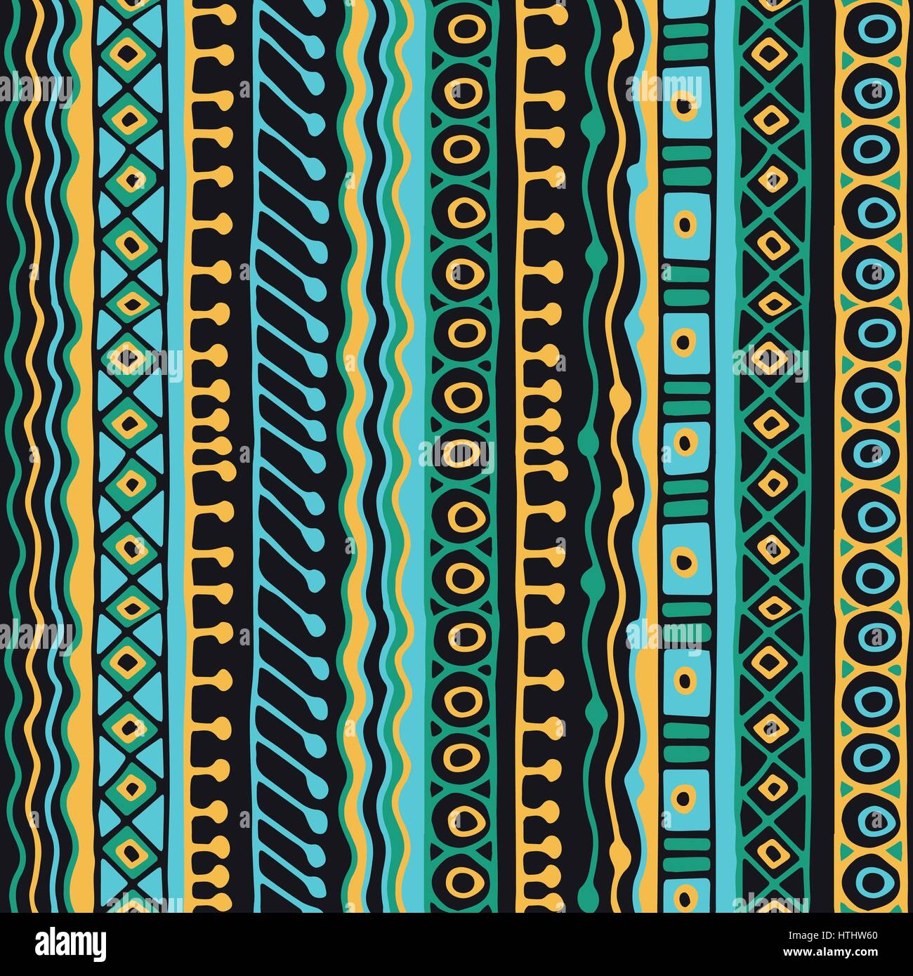 Boho Style Ethnic Wallpaper Tribal Art Print Old Abstract Borders Background Texture