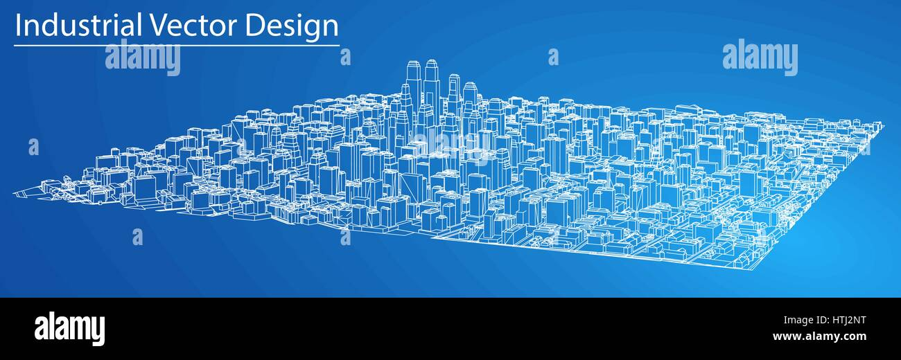 Wire frame city blueprint style vector stock vector art wire frame city blueprint style vector malvernweather Image collections