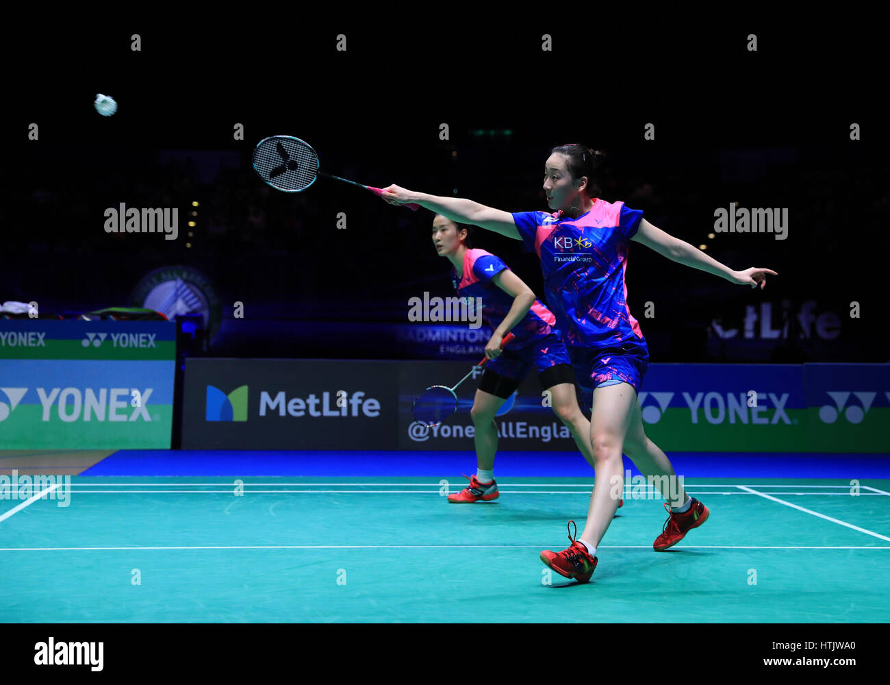 South Korea s Lee So Hee and Chang Ye Na take on Denmark s Kamilla