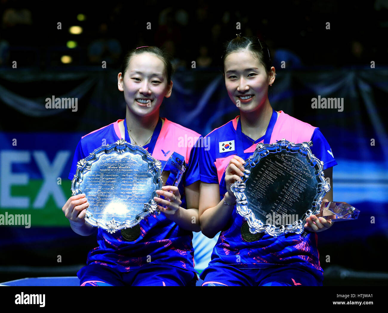 South Korea s Lee So Hee and Chang Ye Na celebrate winning the