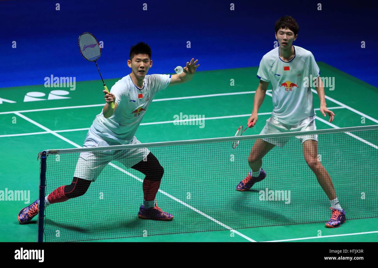 China s Li Junhui and Liu Yuchen against Indonesia s Marcus