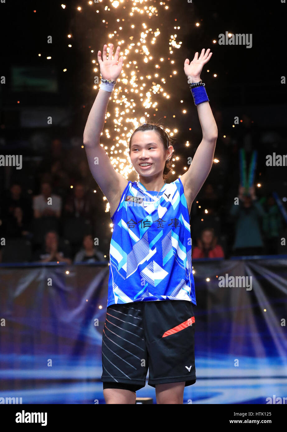 Chinese Taipei s Tai Tzu Ying celebrates victory over Thailand s