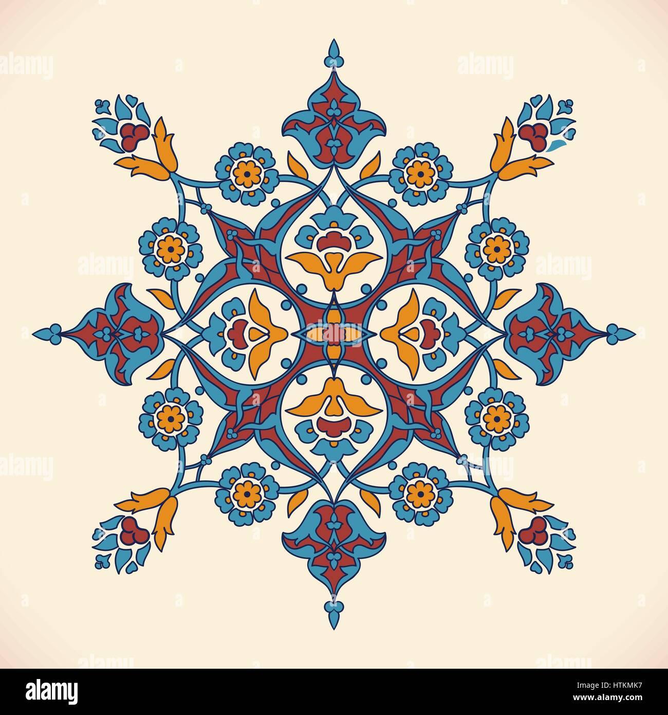 arabesque vintage elegant floral decoration print for design
