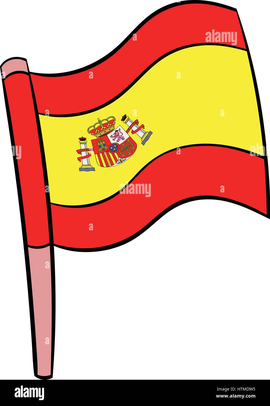 flag of spain icon cartoon stock vector art amp illustration