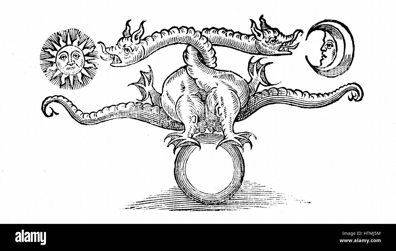 Alchemical symbol of transmutation of base metal earth at bottom alchemical symbol of transmutation of base metal earth at bottom into gold sun and silver moon through the agency of the dragon mercury volatility biocorpaavc Image collections
