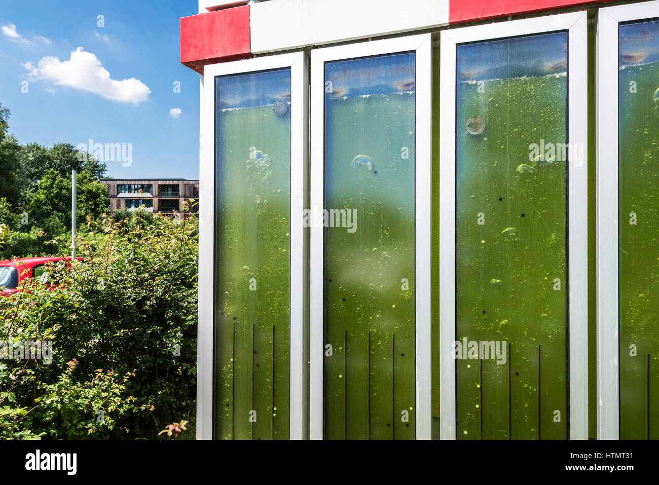 biq algae house wilhelmsburg hamburg germany stock photo royalty free image 135682261 alamy. Black Bedroom Furniture Sets. Home Design Ideas
