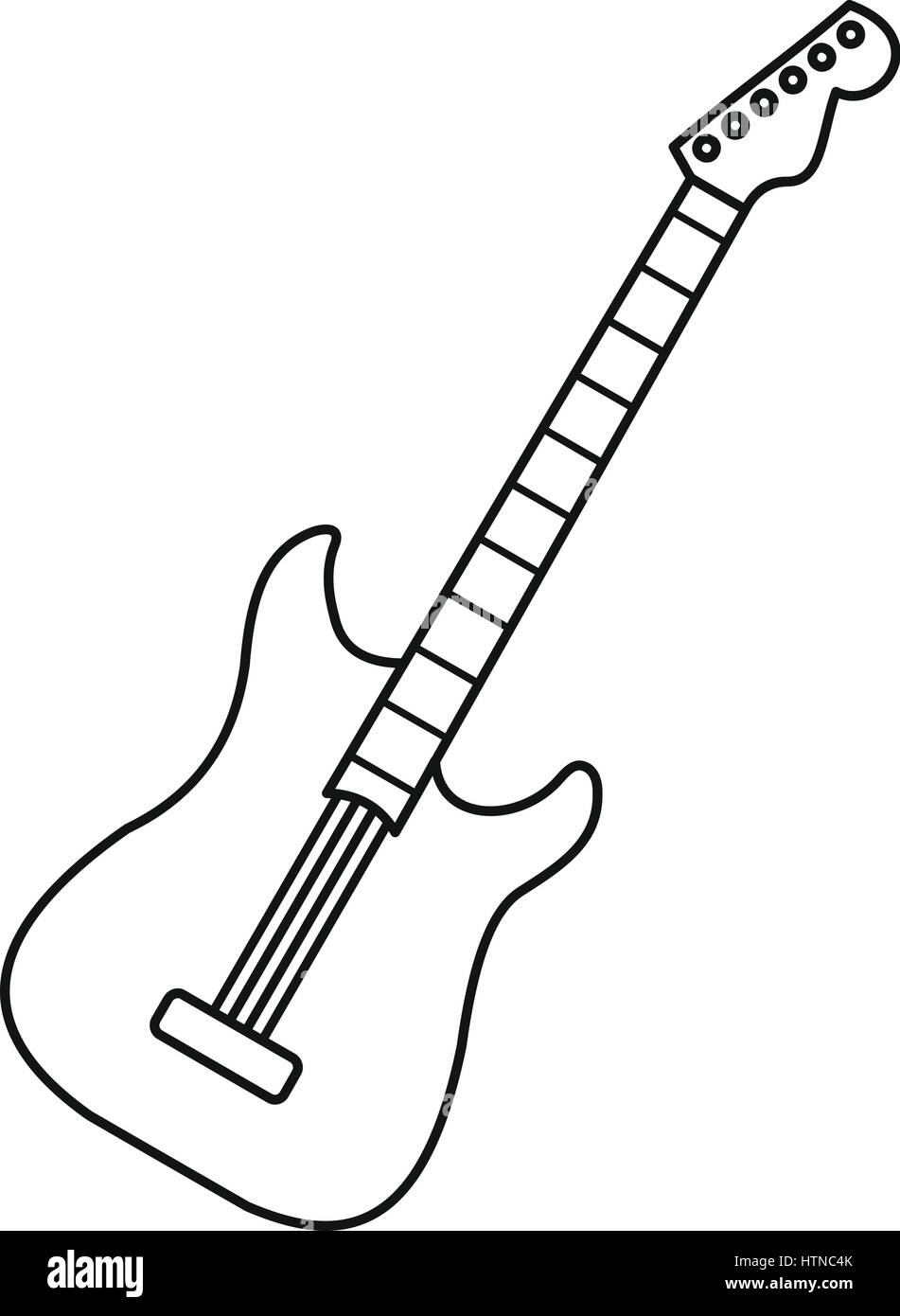 acoustic guitar icon outline illustration of acoustic