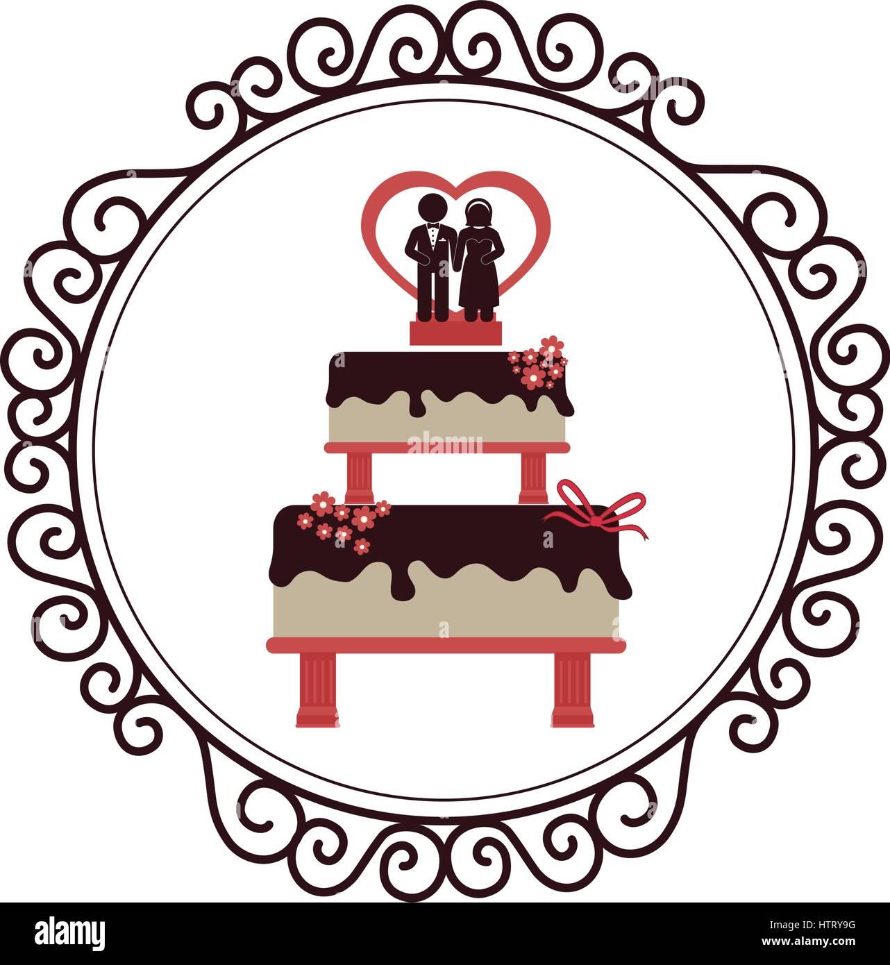 Wedding delicious cake icon stock vector art illustration wedding delicious cake icon buycottarizona