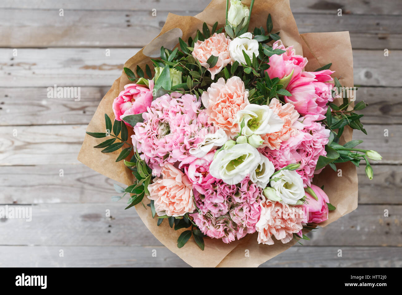 Luxury bouquet of different flowers in glass vase on wooden wall luxury bouquet of different flowers in glass vase on wooden wall copy space izmirmasajfo Gallery
