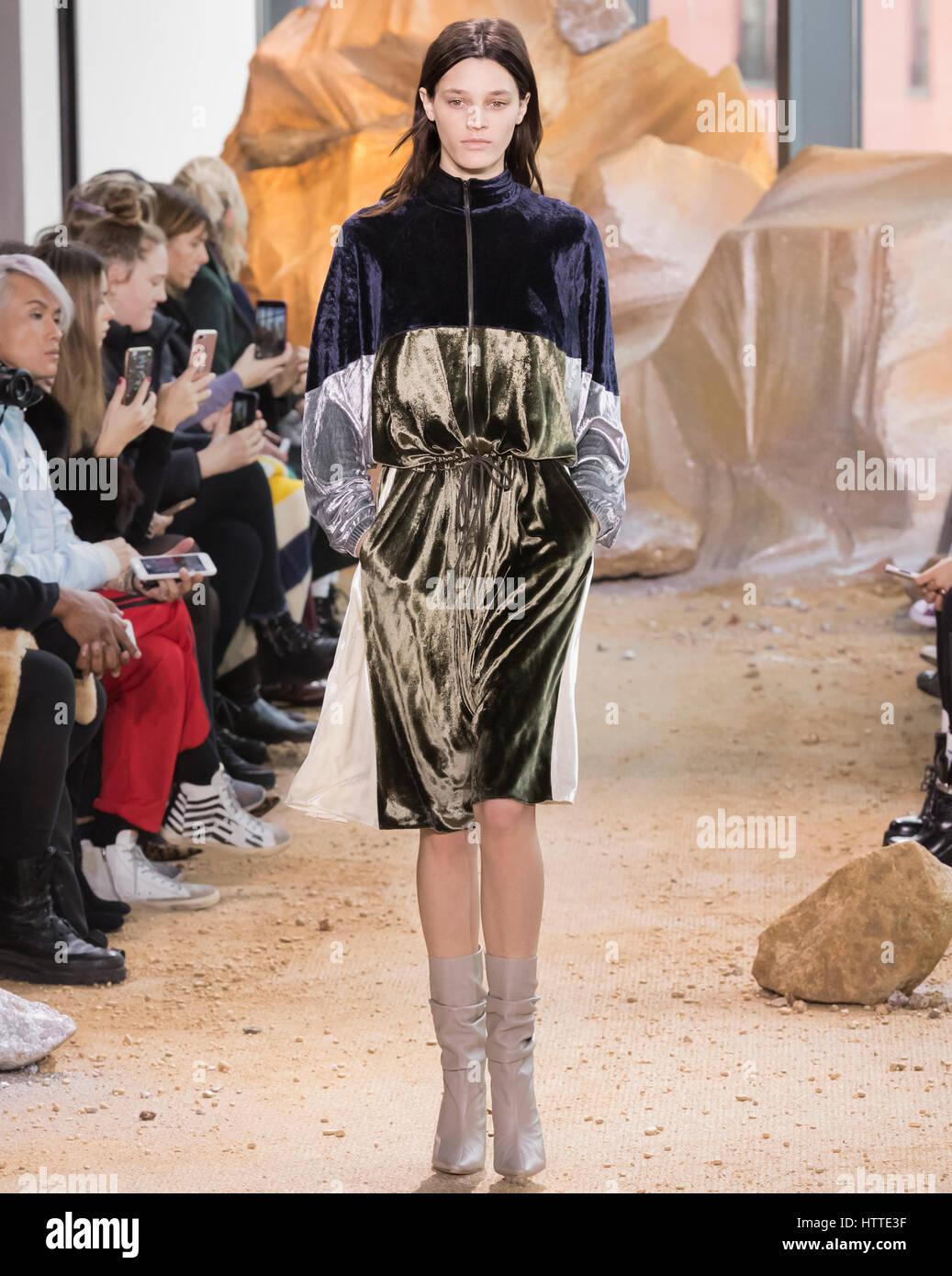 new york ny february 11 2017 leila goldkuhl walks the