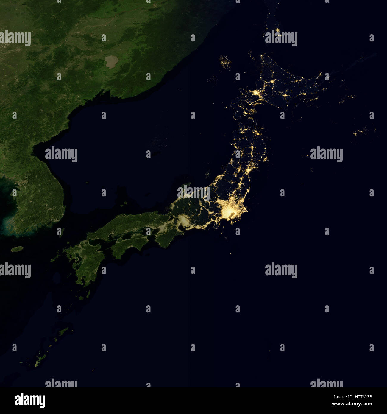 City lights on world map japan stock photo royalty free image city lights on world map japan gumiabroncs Images