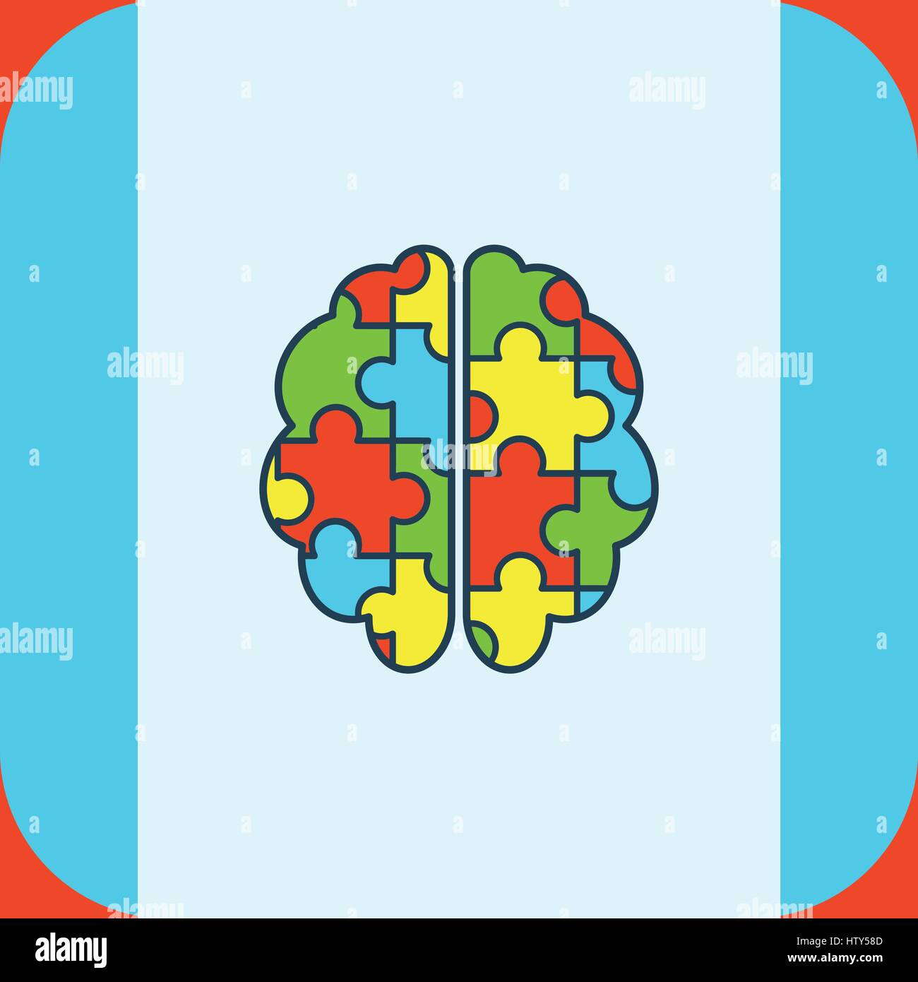 Vector of greeting card with puzzle brain symbol stock vector art vector of greeting card with puzzle brain symbol biocorpaavc Images