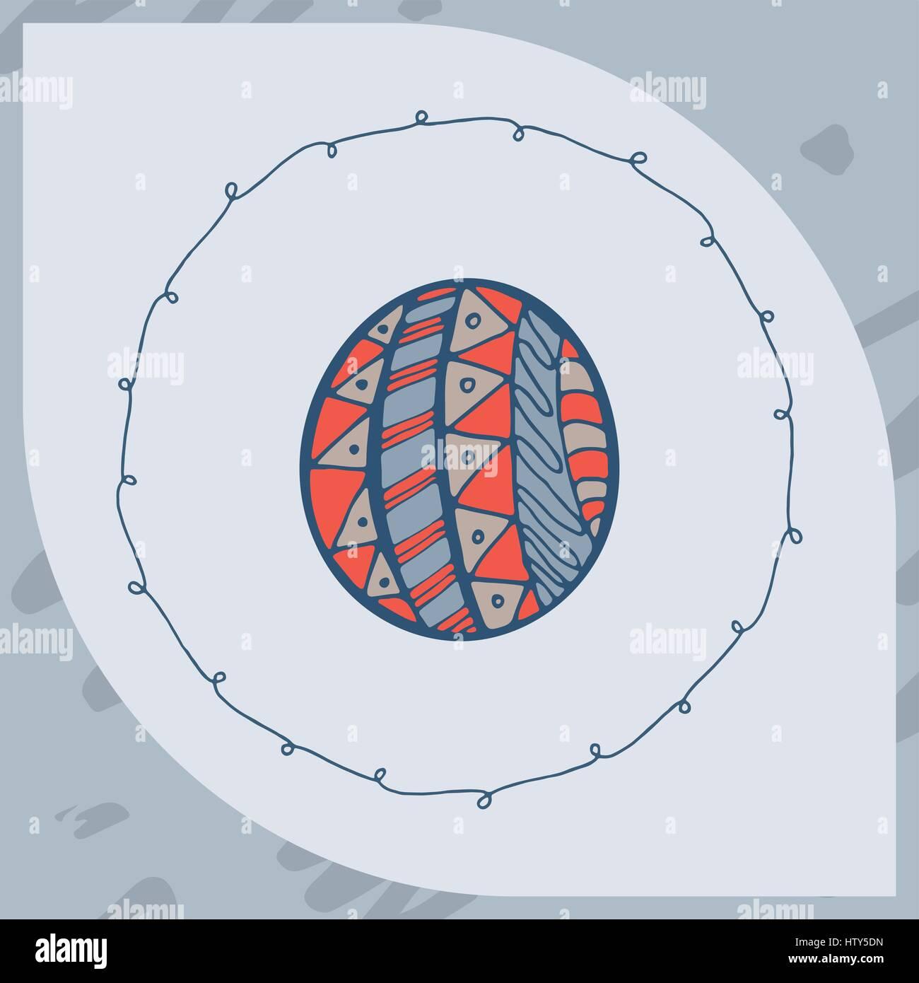 Vector of greeting card with easter egg symbol stock vector art vector of greeting card with easter egg symbol buycottarizona