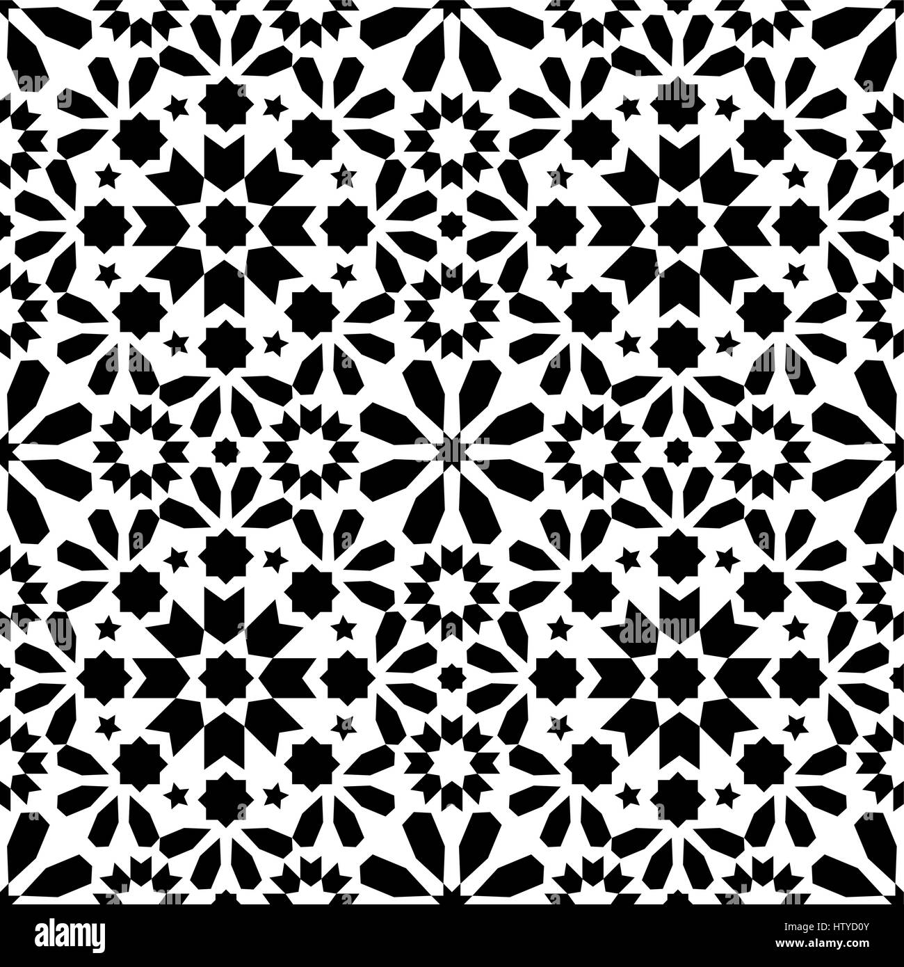 Vector of moroccan tile seamless pattern tile for design tile - Geometric Seamless Pattern Moroccan Tiles Design Seamless Black Tile Background