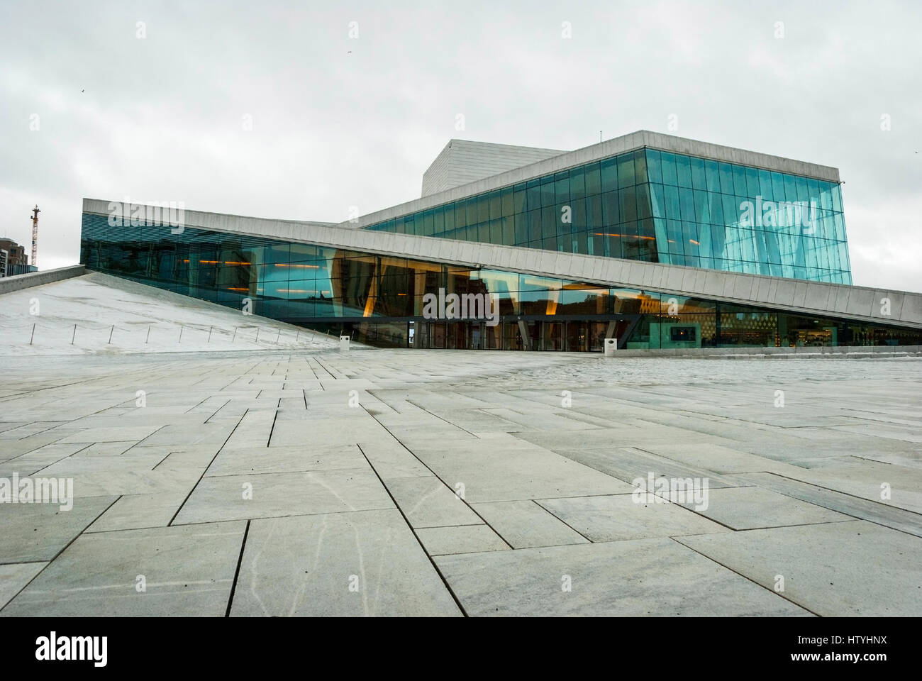 OSLO, NORWAY   JANUARY 28: Exterior Of Oslo Opera House Desiged By Snohetta  And Build In 2007. Opera House Is The Home Of National Opera And Ballet. T