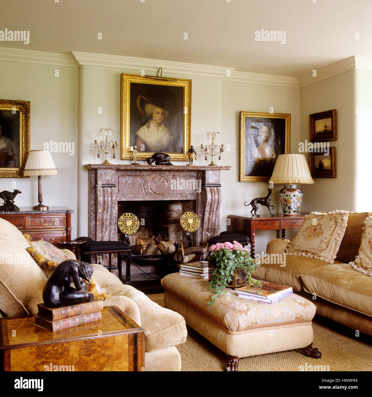 Georgian style living room Stock Photo Royalty Free Image