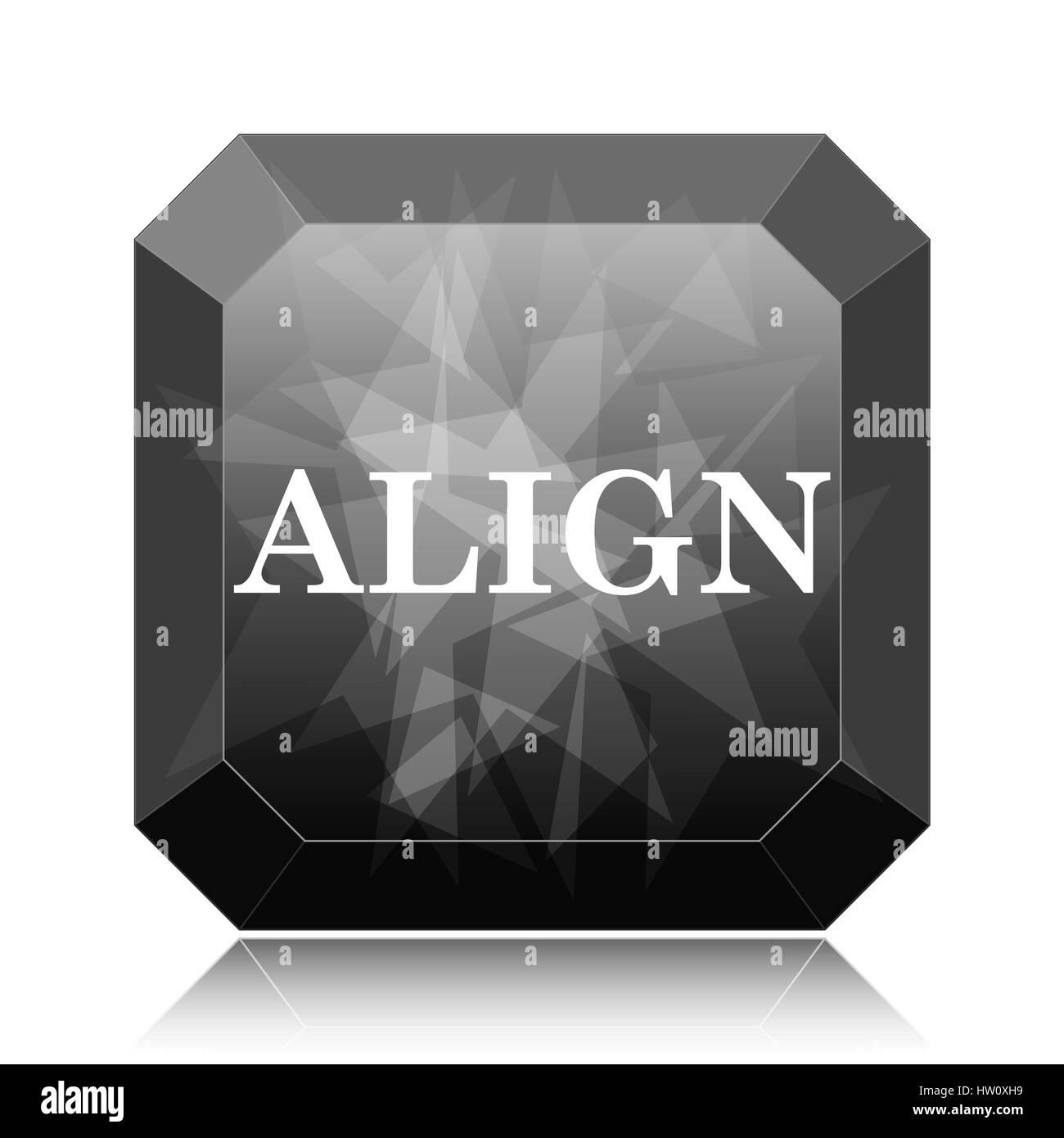 Background image align - Align Icon Black Website Button On White Background