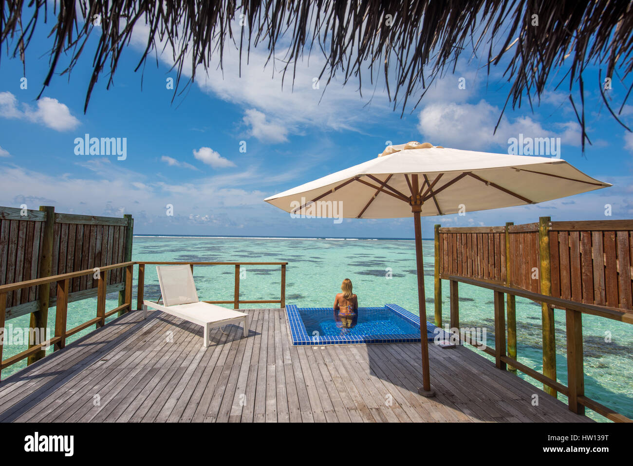 Maldives rangali island conrad hilton resort woman in for Conrad maldives rangali islands maldives