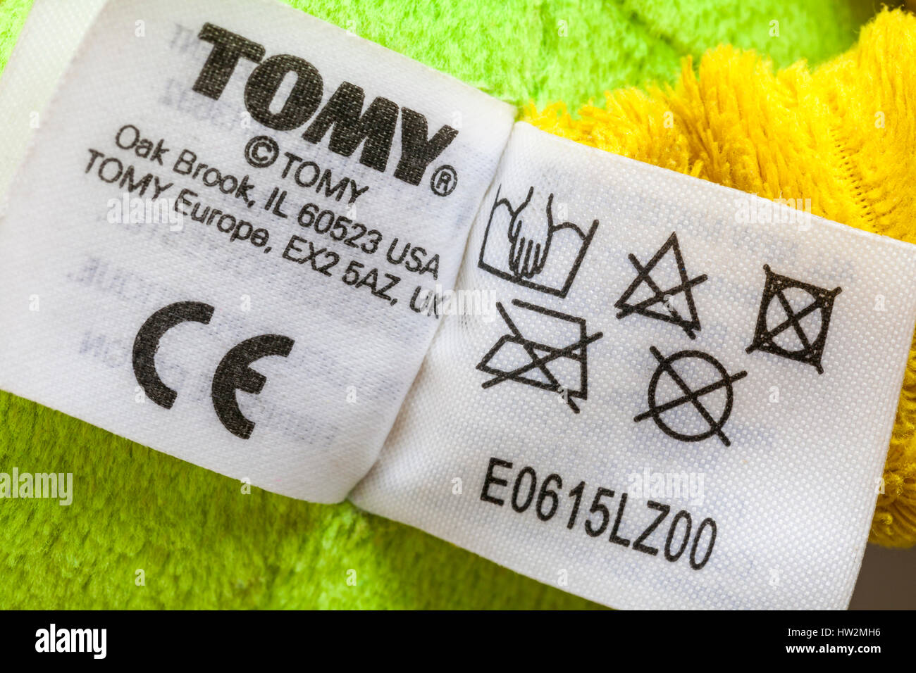 Information on label on tomy lamaze rusty the robot toy showing information on label on tomy lamaze rusty the robot toy showing washing care instructions symbols and ce symbol biocorpaavc Choice Image
