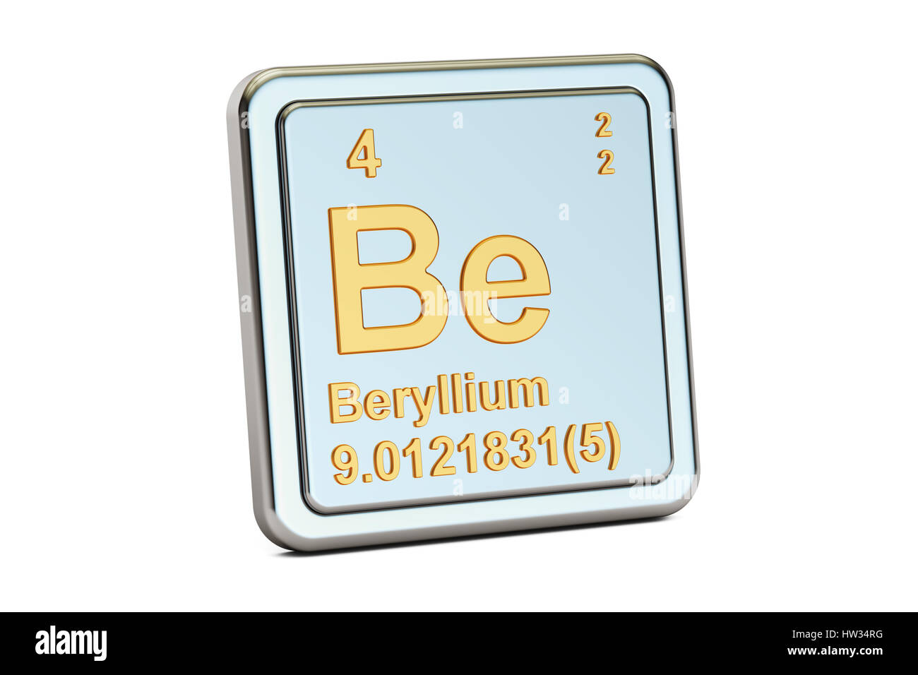 Beryllium be chemical element sign 3d rendering isolated on beryllium be chemical element sign 3d rendering isolated on white background buycottarizona Image collections