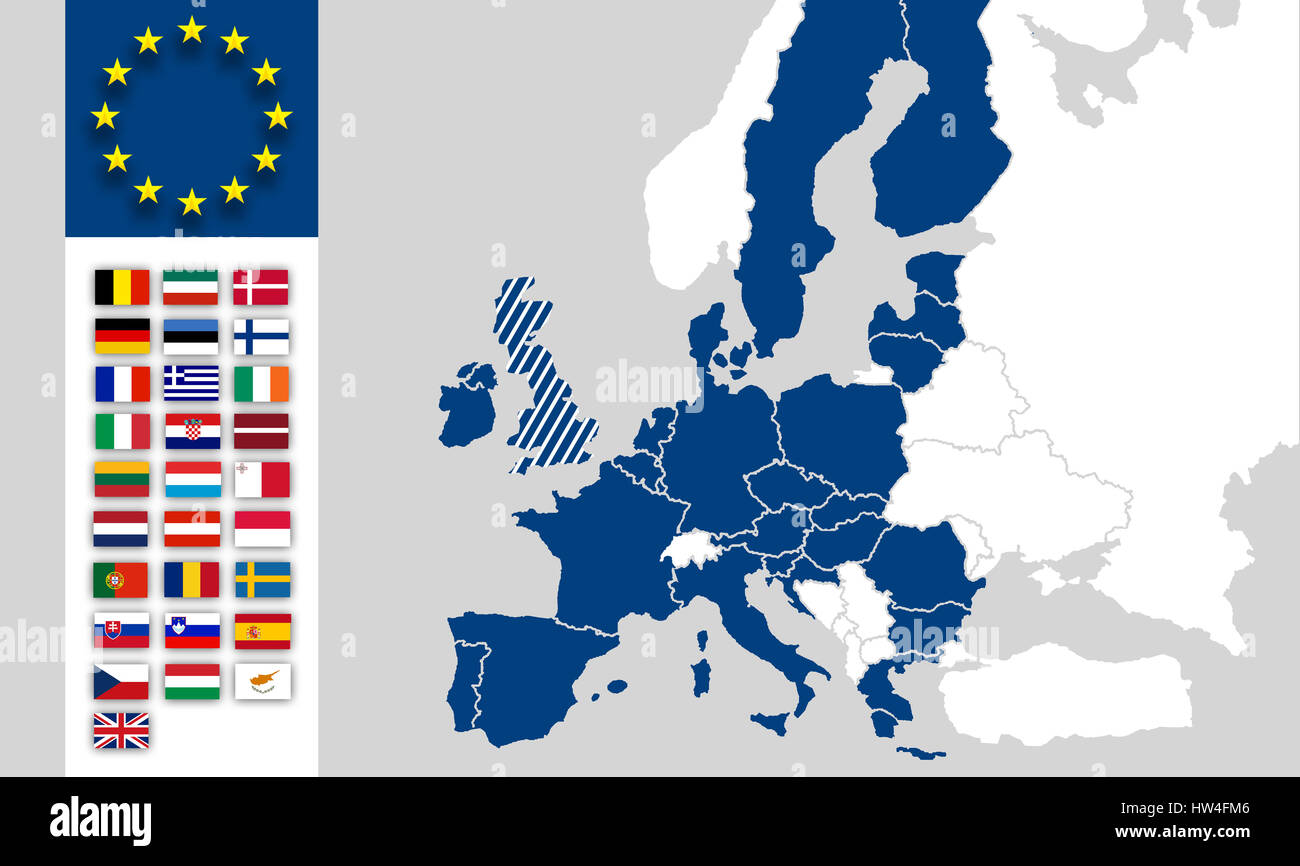 Brexit uk and eu map flags europe stock photo royalty free image eu map european union countries flags brexit uk world map europe gumiabroncs Choice Image