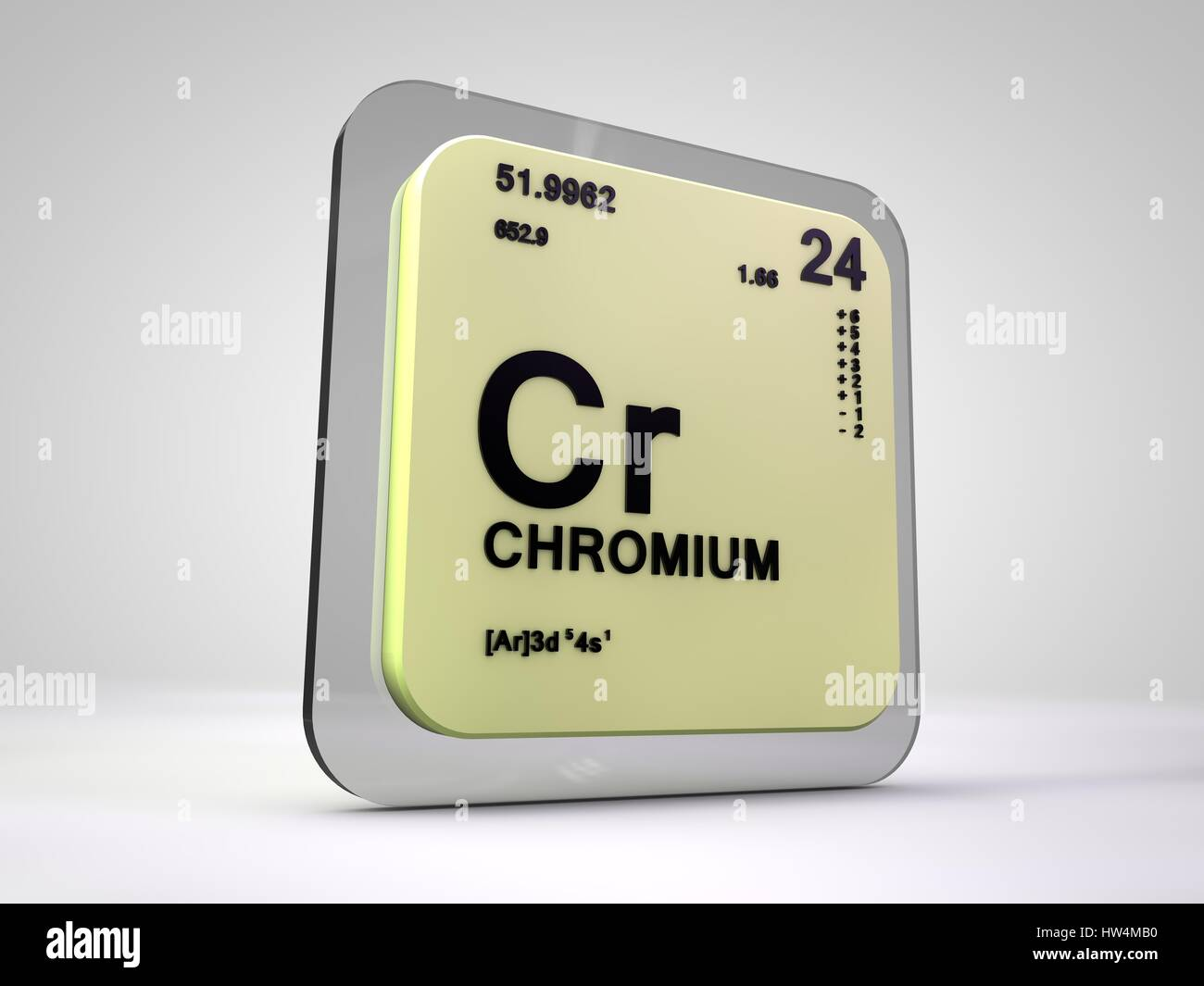 Chromium cr chemical element periodic table 3d render stock chromium cr chemical element periodic table 3d render buycottarizona
