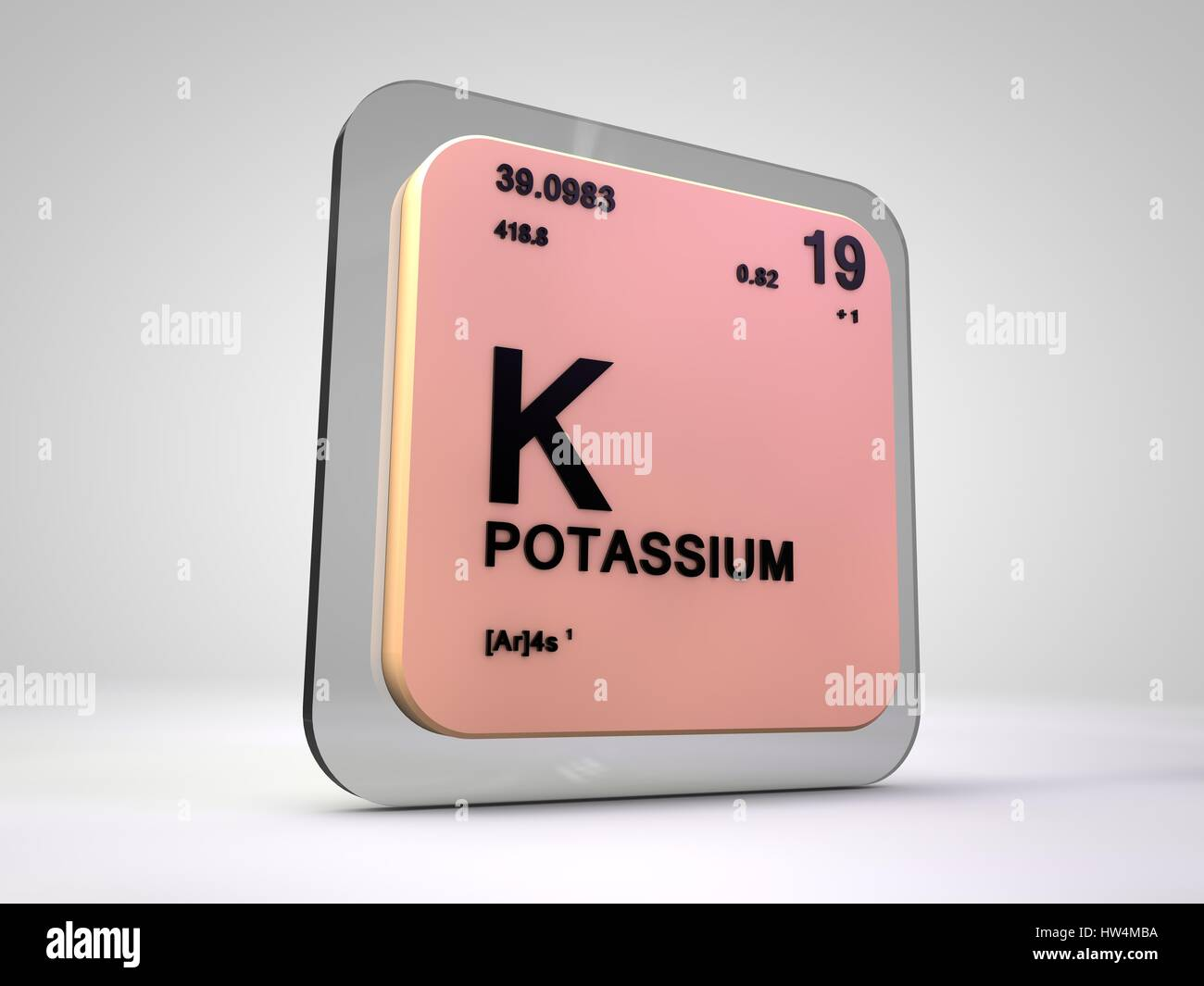 Potassium k chemical element periodic table 3d render stock potassium k chemical element periodic table 3d render buycottarizona