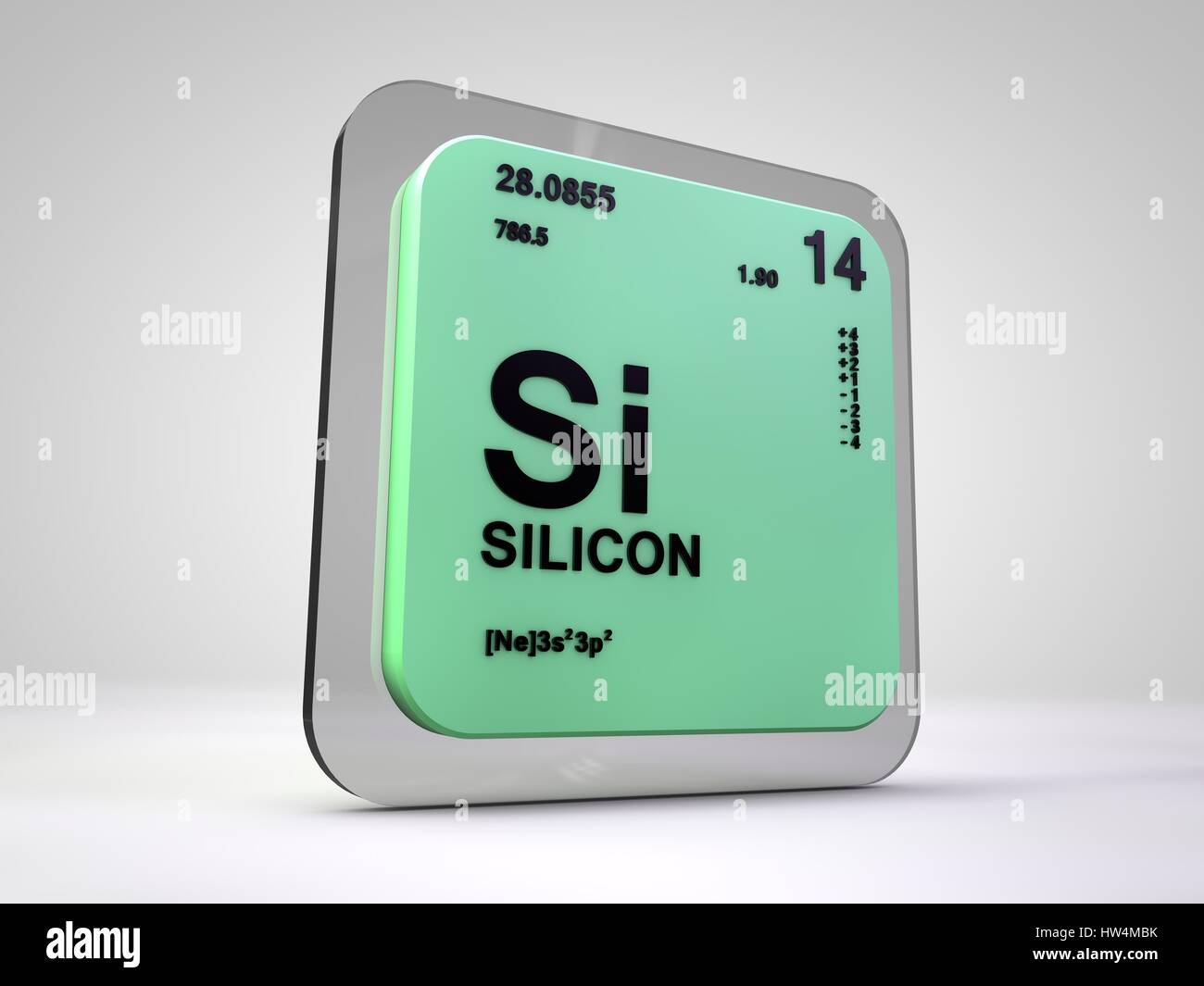 Silicon si chemical element periodic table 3d render stock silicon si chemical element periodic table 3d render buycottarizona