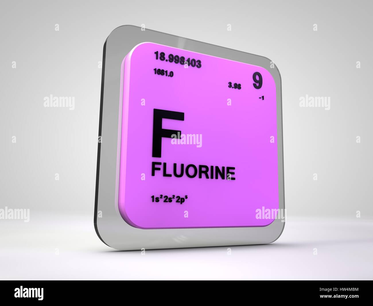 Fluorine f chemical element periodic table 3d render stock fluorine f chemical element periodic table 3d render gamestrikefo Choice Image