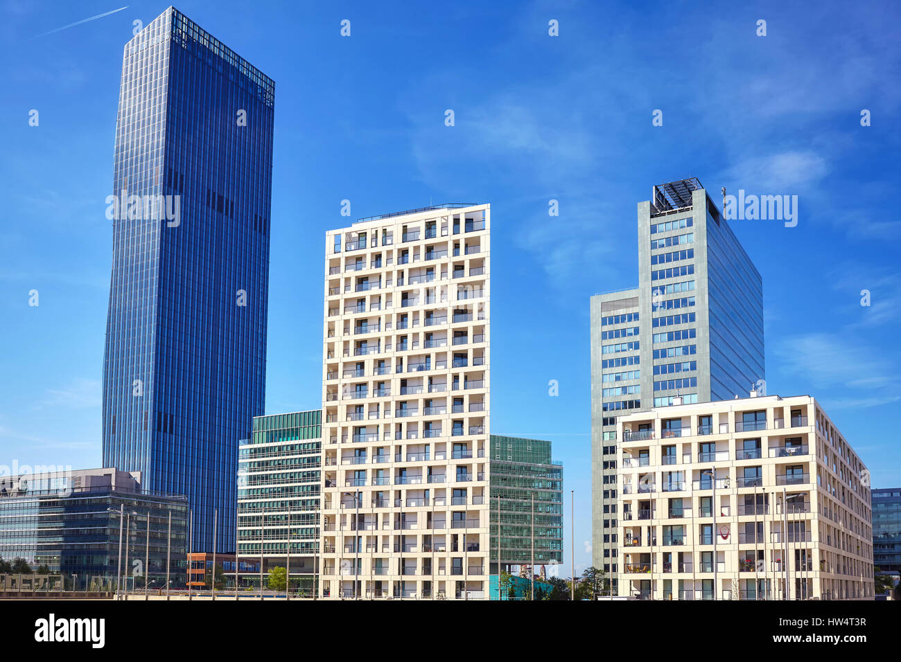 stock photo vienna modern architecture in the uno city complex austria - Modern Architecture Vienna