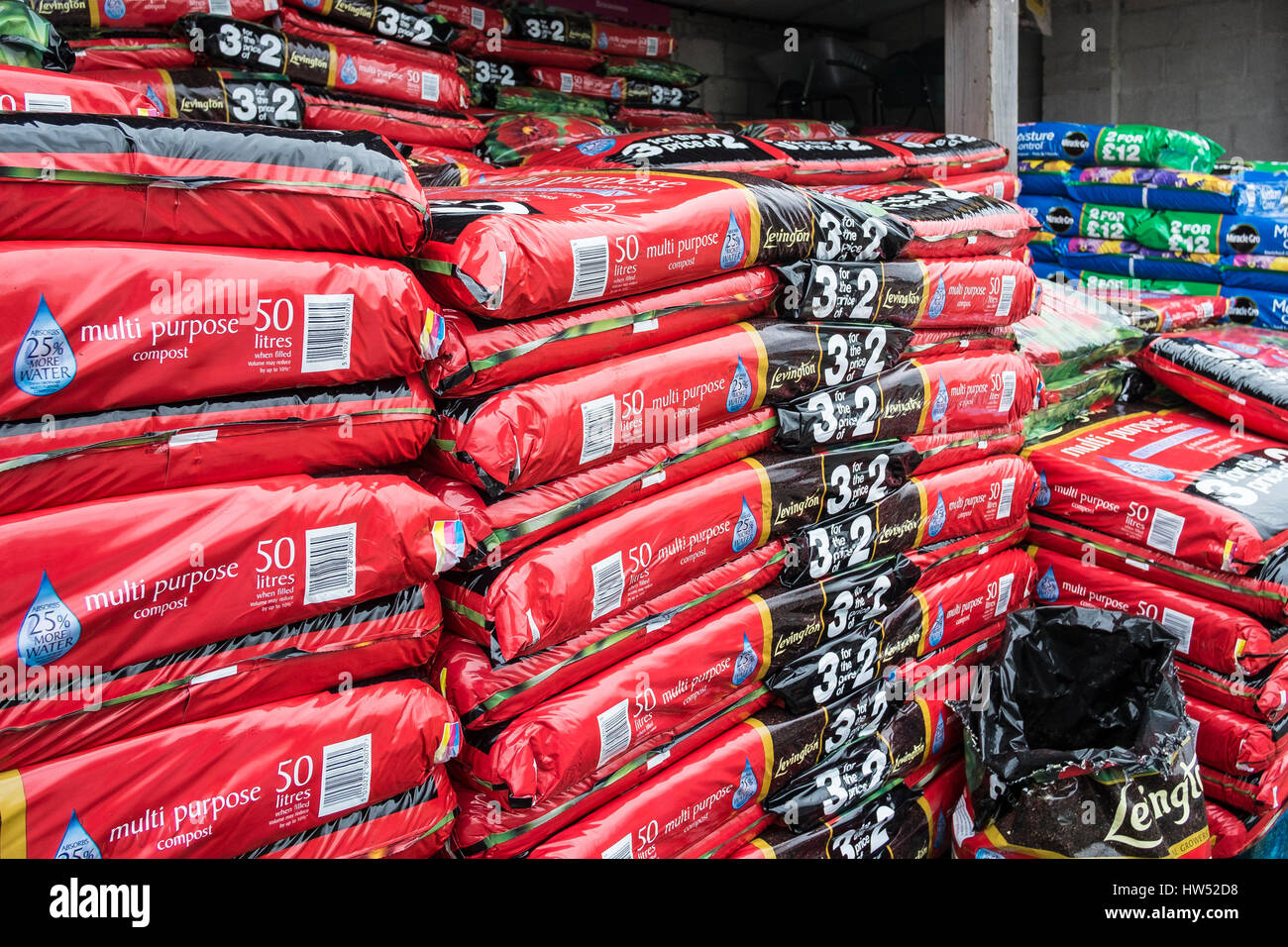 garden centre bags compost sale leisure gardening business display