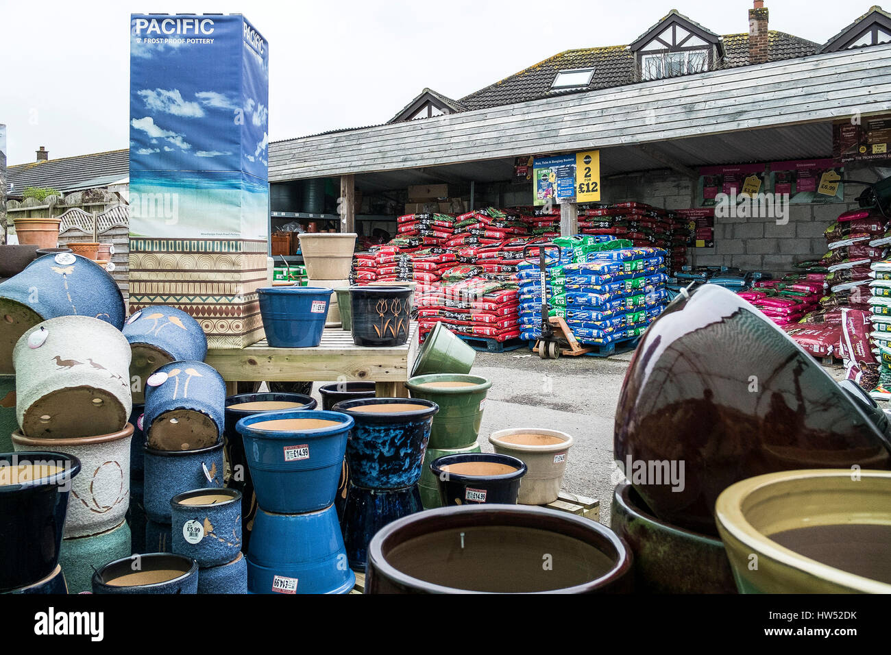 garden centre pots compost sale leisure gardening business display