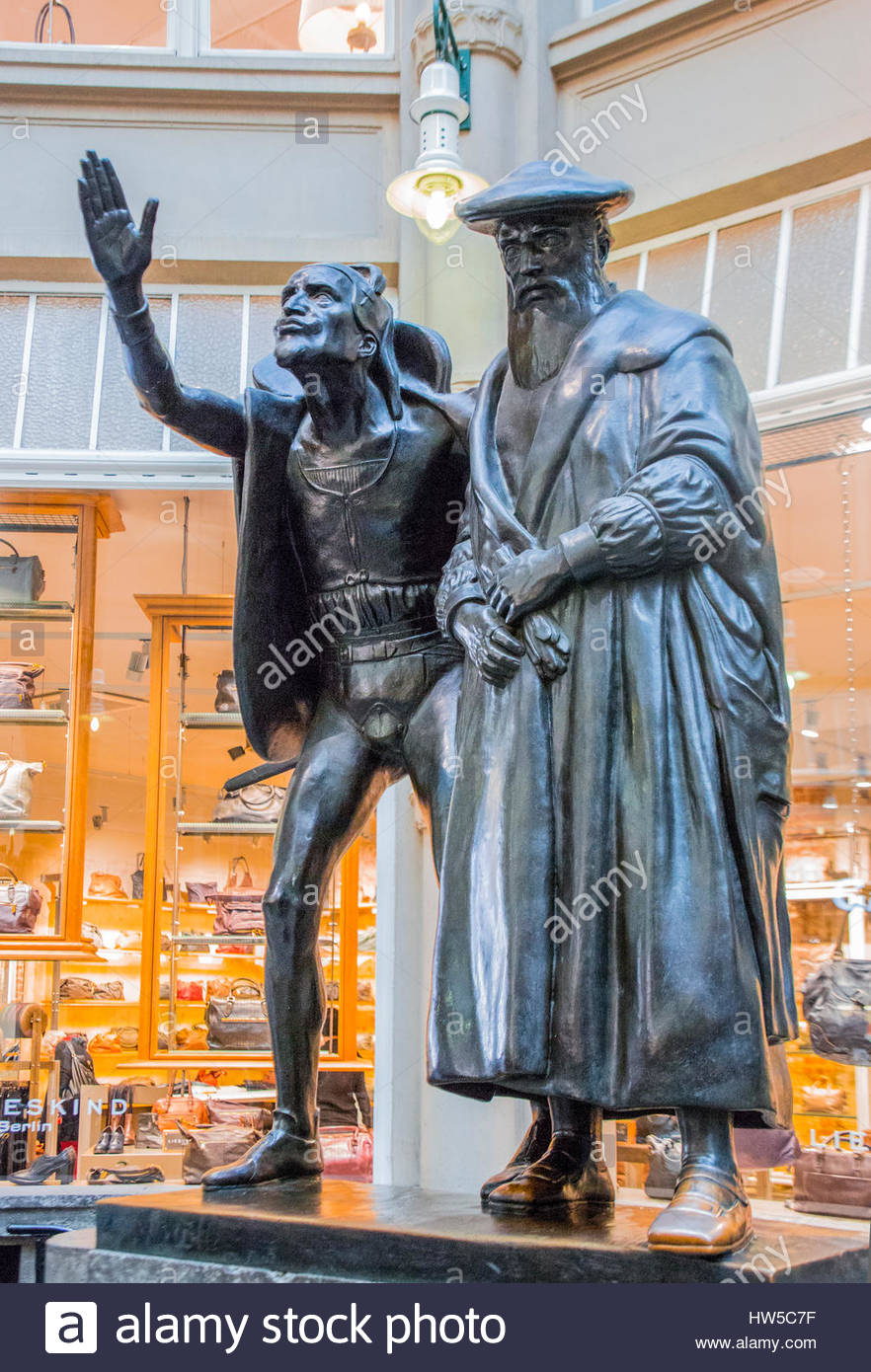 Cards on the table mathistopheles - Mephistopheles And Faust Bronze Statue Stock Image